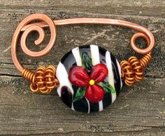 Hand Forged Copper Shawl Pin with Handmade by CourtneyBDesigns, $30.00