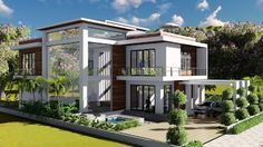 Sketchup Modeling + Lumion Render 2 stories Villa Design Size 13.8x19m 4bedroom - SaM ArchitecT