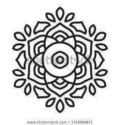 Simple Mandala Shape for Coloring. Vector Mandala. Floral. Flower. Oriental. Book Page. Outline. Mandala Design, Pookalam Design, Cigar Box Guitar Plans, Design Art, Floral Design, Coloring Pages Inspirational, Simple Mandala, Outline, Islamic Art Calligraphy