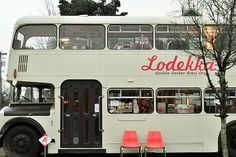 Lodekka. I love this place. Its a thrift store in a double decker bus ... Brilz! Too bad it's in Portland and I'm on the east coast. =(