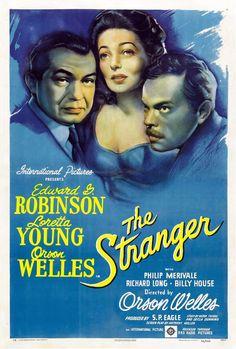 The Stranger (1946) Edward G. Robinson + Orson Wells + Loretta Young