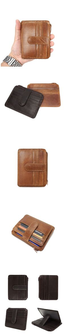 Full Grain Leather Card Holder Mens Short Wallet Leather Coin Purse YD6611 Handmade Leather Wallet, Leather Wallets, Christmas Shopping, Clutch Wallet, Shoulder Strap, Coin Purse, Card Holder, Purses, Bags