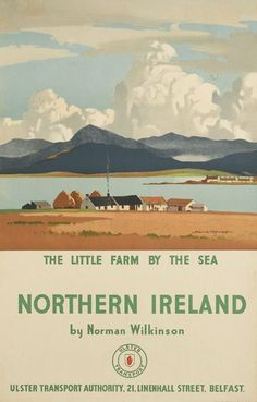 Northern Ireland - The little farm by the sea - Ulster Transport - (Norman Wilkinson) -