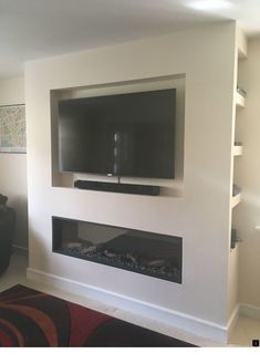 90 Most Popular Wall Mount Tv Ideas for Living Room Tv Wall Mount Ideas to Create Perfect View Your Decor Above Fireplace Ideas, Inset Fireplace, Recessed Electric Fireplace, Fireplace Tv Wall, Fireplace Design, Fireplace Modern, Modern Electric Fireplace, Electric Fireplaces, Living Room Tv