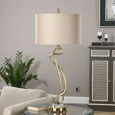 Shop for Uttermost shalin brushed brass lamps, rustic room decor and furniture traditional. Contemporary Floor Lamps, Contemporary Furniture, Barn Wood Picture Frames, Floor Lamp With Shelves, Buffet Lamps, Room Lamp, Brass Lamp, Rustic Wall Decor, Traditional Furniture
