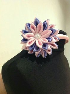 Three tier flowered headbands made to order all colours
