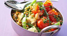 Pilaf d'épeautre au poulet et aux pois gourmandsVoir la recette du Pilaf d'épeautre au poulet et aux pois gourmands >>