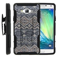 Buy Galaxy A7 Case, Galaxy A7 Holster, High Impact Advanced Double Layered Hard Cover with Built in Kickstand and Belt Clip for Samsung Galaxy A7 SM-A700FD from MINITURTLE   Includes Screen Protector - Native Sweater Pattern NEW for 9.99 USD   Reusell