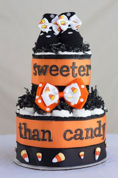 The Sweeter than Candy Diaper Cake. Special by SassyandSweetBoutiq, $45.00
