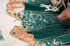 """George Balanchine's """"Jewels"""" has long had a trademark look but PNB's version, opening Sept. will feature new costumes and sets by French designer Jerome Kaplan. Tutu Costumes, Ballet Costumes, Pacific Northwest Ballet, Ballet Tutu, Ballerina, How To Make Tutu, George Balanchine, Ballet Photography, Ballet Beautiful"""