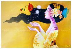 Grato pela palavra que agradece. Grato pelo quanto essa palavra derrete neve ou ferro... ( Pablo Neruda ) por Gui Chanel