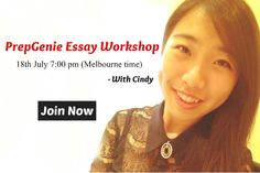 Register now: http://prepgenie.com.au/workshop/PrepGenie-essay-workshop/