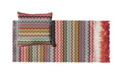 Prudence throw classic design with elegant fringes MissoniHome