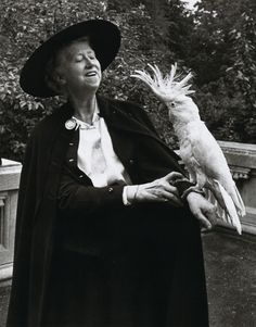 Esther Bubley  Poetess Marianne Moore at the Bronx Zoo.  Published in Life, September 21, 1953