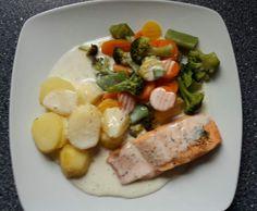 Rezept Lachs mit Gemüse, Kartoffeln und Dillsauce von Ines Wepunkt - Rezept der Kategorie Hauptgerichte mit Fisch & Meeresfrüchten