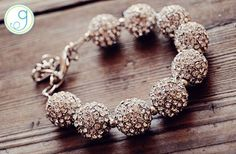 GroopDealz | Carolina Pave Crystal Ball Bracelet with Free Shipping