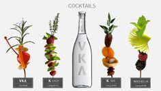 VKΛ Tuscan organic wheat Vodka coktails on http://www.vka.it/Cocktail.html