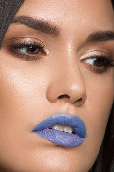 Trill Seeker True Periwinkle Matte Lux Lipstick on model How To Apply  Lipstick, Long Wear ad72fd4a307e