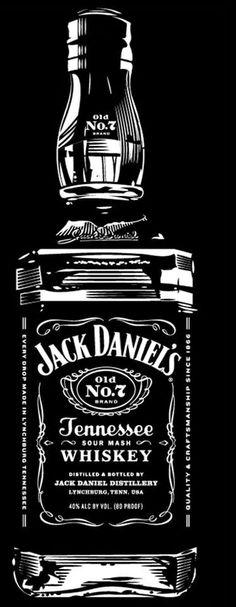 Jack daniels modele a imprimer pinterest pochoir for Meuble jack daniels