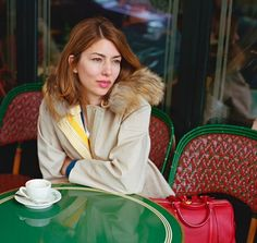 Sofia Coppola at Café de Flore shot by Andrew Durham for Louis Vuitton 2013 | enboga.net