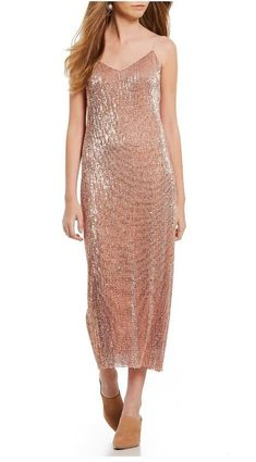 a6c3e2409fe State Midi Sequin Dress Blush Pink Nude. Small. NWT Dillards  129 -