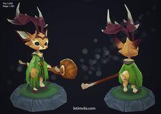 ArtStation - Druid Deer, Leti M. Vila