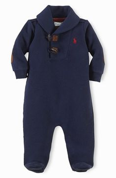 Ralph Lauren Shawl Collar One-Piece (Baby Boys) available at #Nordstrom