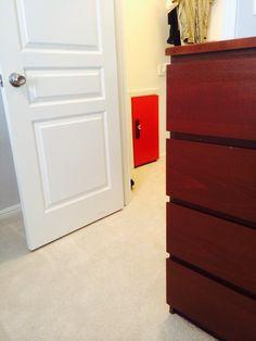 Entrance #2 into the hideout. Secret red door!