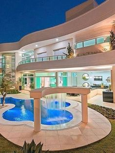 dream mansion Dream luxury homes you will want to move in. Dream Home Design, Modern House Design, Dream Mansion, Fancy Houses, Large Houses, Crazy Houses, Luxury Homes Dream Houses, Luxury Life, Modern Mansion
