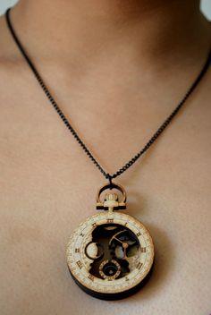 Laser cut watch necklace