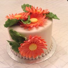 Gerber Daisy Cake for a birthday/engagement celebration