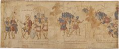 Illustrations of Byzantine Costume & Soldiers in the Joshua Roll - The Scouts Report.     Joshua Sends a Small Force to Attack Ai.