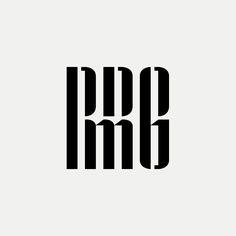 RRMG Modern monogram by British freelance logo designer Richard Baird - richardbaird.com