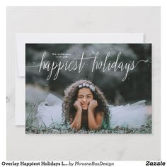 Shop Overlay Happiest Holidays Lettering Photo Card created by PhrosneRasDesign. Christmas Photo Cards, Christmas Card Holders, Holiday Cards, All Holidays, Christmas Holidays, Holiday Photos, Holiday Festival, Custom Photo, Overlays