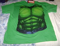 MARVEL INCREDIBLE HULK COSTUME T-SHIRT S SMALL SM NEW COSPLAY TEE BRUCE BANNER