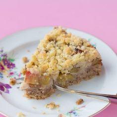 Rhabarber-Streusel-Kuchen vegan