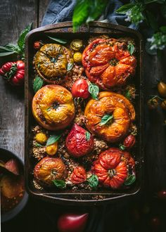 Stuffed Tomatoes with Rice, Basil, and Parmesan + Downloadable Art Prints | Adventures in Cooking