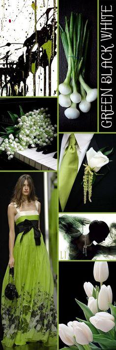 green | black | white ღ Lu's Inspiration