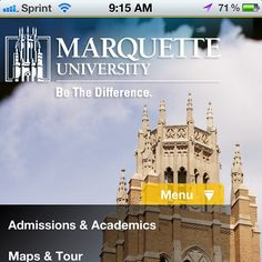 Introducing the Marquette app for iPhone, iPad & iPod. Search Marquette University in the app store and download today.