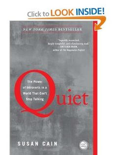 Amazon.com: Quiet: The Power of Introverts in a World That Cant Stop Talking (9780307352156): Susan Cain: Books