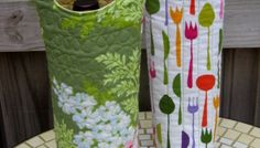 Quilted Wine Tote - Free Tutorial + PDF Pattern