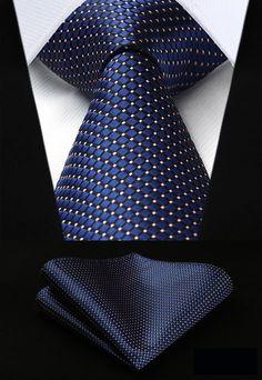 "New 3.4"" 100% Silk Classic Tie + Handkerchief //Super Sale: $20.00 & FREE Shipping Worldwide!// #style"