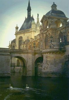 Chateau de Chantilly                                   In my childhood dreams of a castle, it looked like this.  I know it's a chateau, by my mind never thought of anything bigger than this.