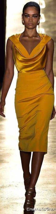 I have this fabric - hmmmm. Cushnie et Ochs Spring Summer 2015 Ready-To-Wear