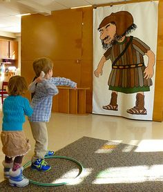 Our preschoolers got to play this game too - to practice battling giants