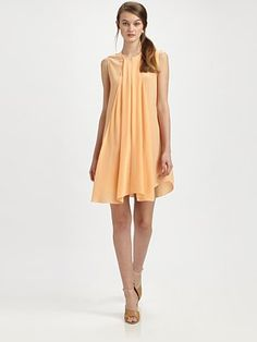 3.1 Phillip Lim Cascade Front Silk Dress