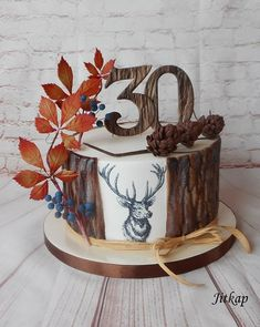 Hunter cake by Jitkap - Cake Decorating Blue Ideen Birthday Cakes For Men, Hunting Birthday Cakes, Cakes For Boys, Hunting Cakes, Torta Angel, Farm Cake, Occasion Cakes, Party Cakes, How To Make Cake