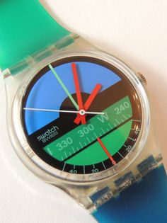 Vintage Swatch Watch Nautilus GK102 Classic Swatch by CoolRelics