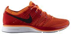 Nike Flyknit Trainer+ University Red/White-Total Orange