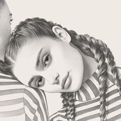 Beautiful graphite portrait drawings by Evgeni Koroliov ~ PARALLEL LINES Realistic Pencil Drawings, Pencil Art Drawings, Dark Books, Girl Drawing Sketches, Beautiful Sketches, Art Studios, Doodle Art, Paper Art, Illustration